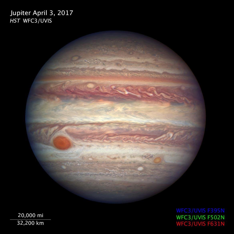 Jupiter via Hubble