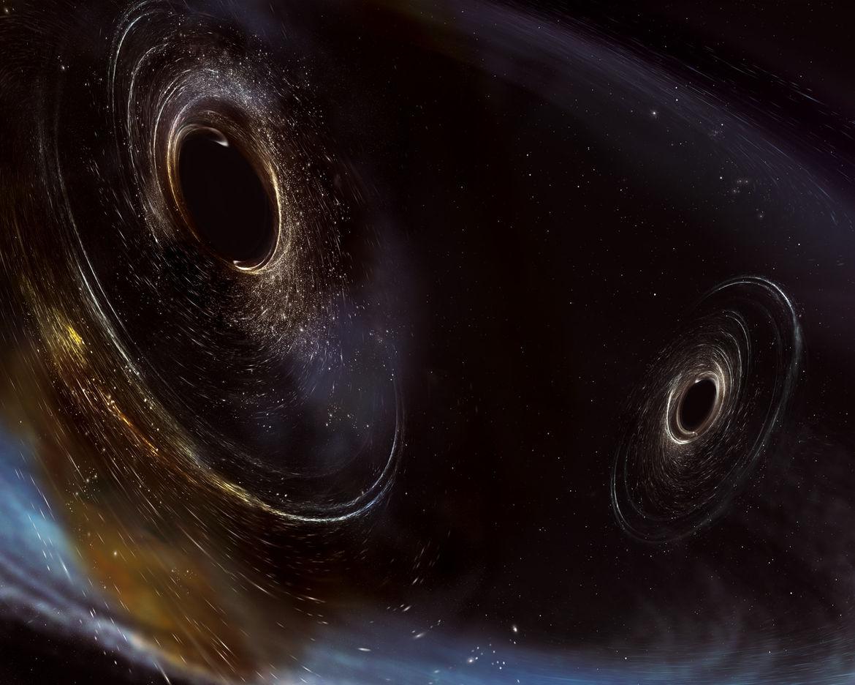 Merging black holes art