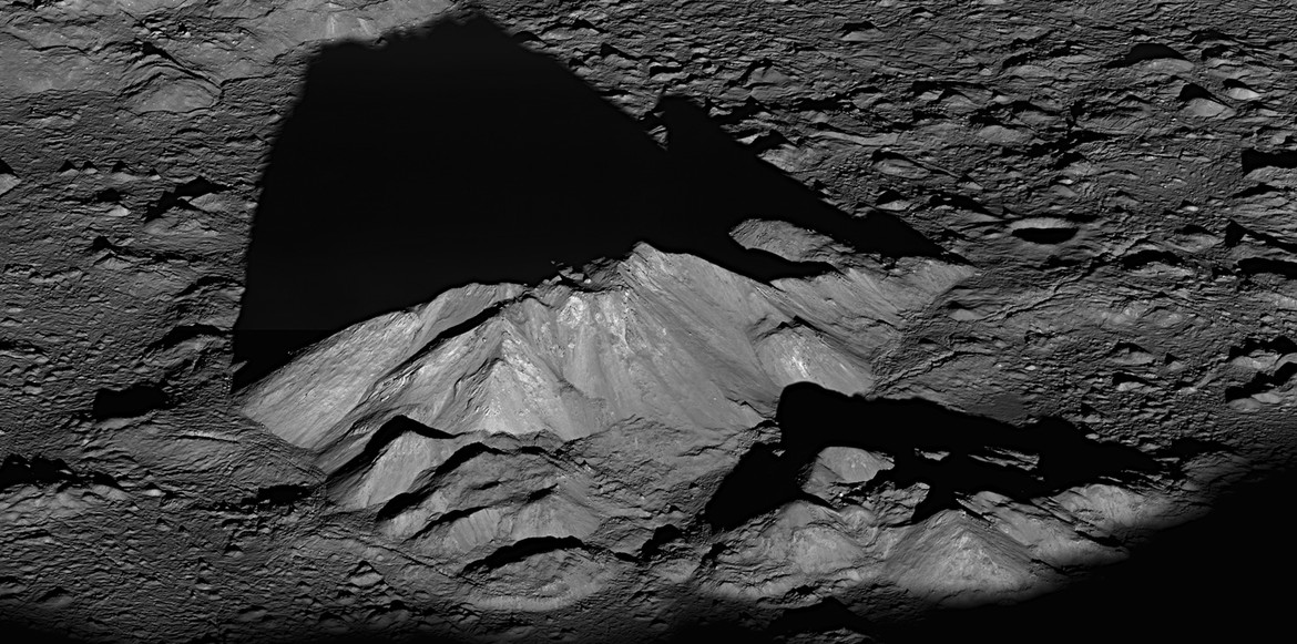 Lunar Reconnaissance Orbiter image of the central peaks of Tycho crater.