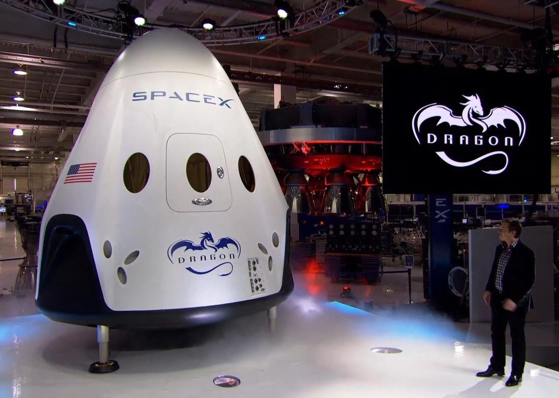Elon Musk and a Dragon 2