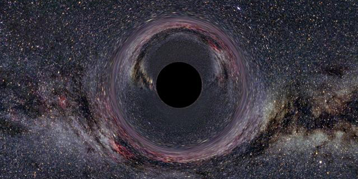 Rendering of a primordial black hole