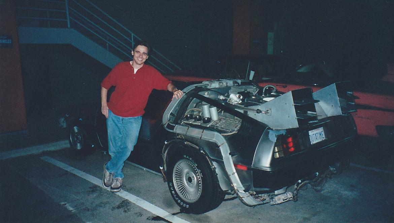 OUTATIME director Steve Concotelli with the DeLorean