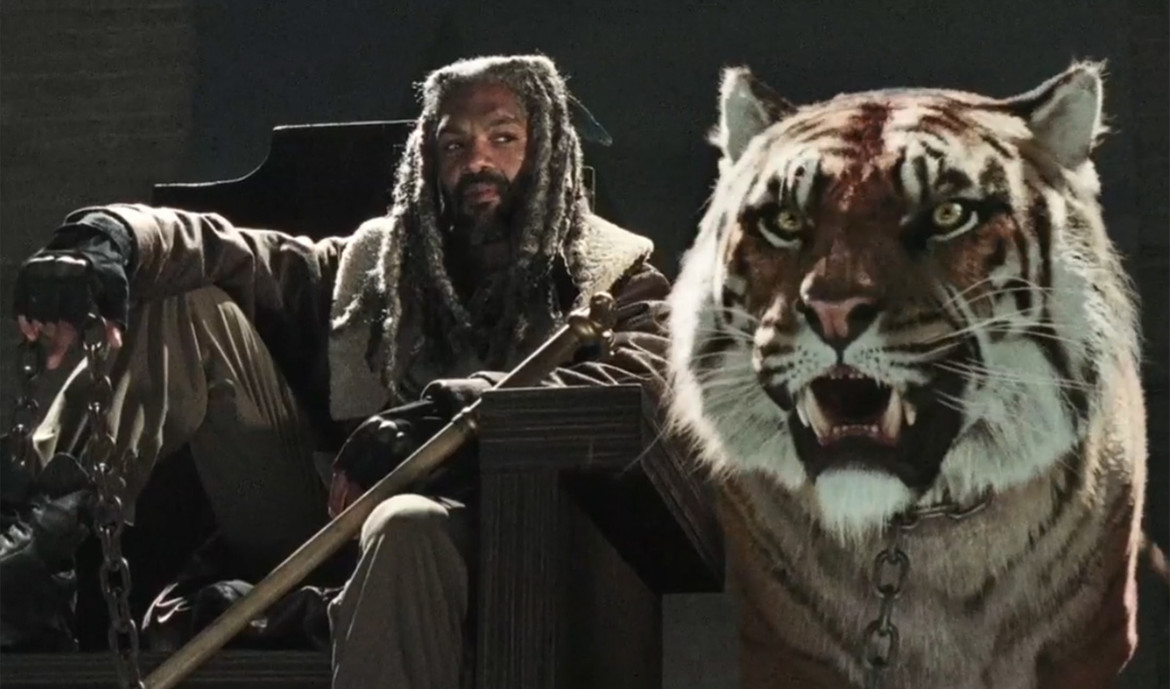 The Walking Dead's Ezekial and his tiger