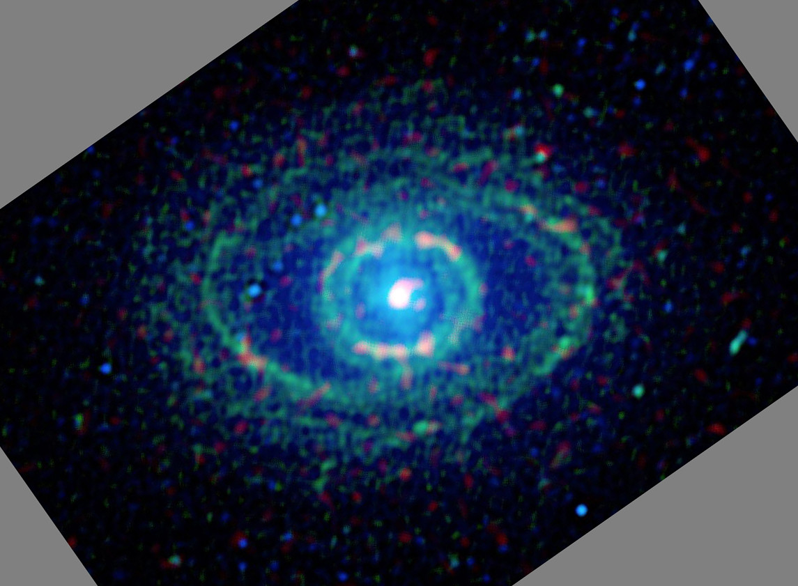 NGC 1398 in the far-infrared, taken by WISE. Credit: NASA/JPL-Caltech/UCLA