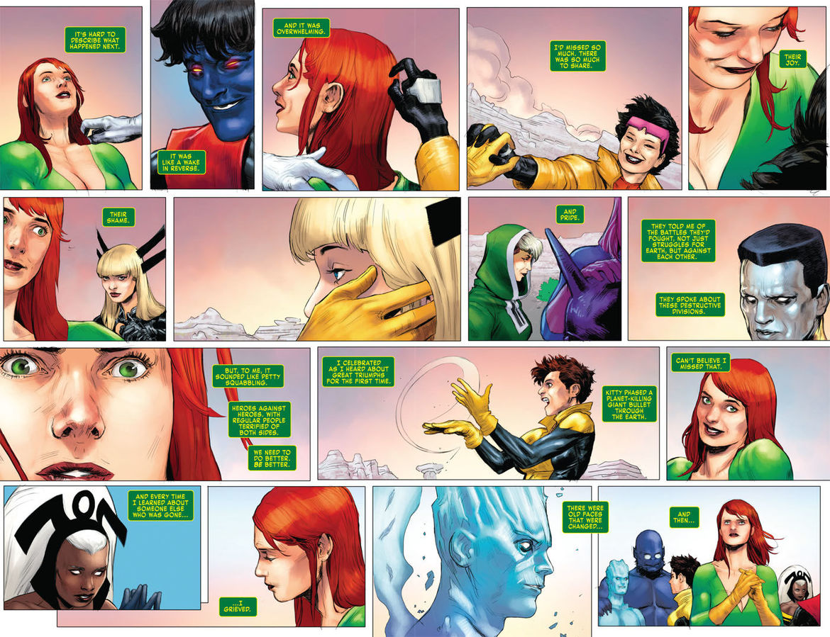 X-Men Red Annual 1 pages 4 and 5