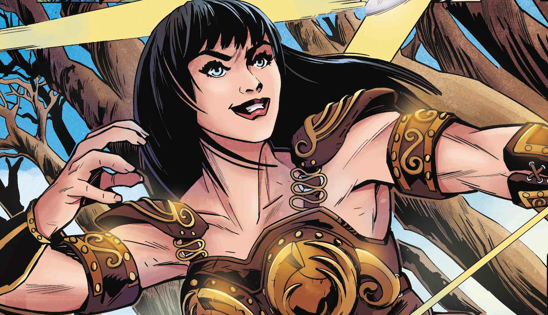 Xena Splash Page Slice