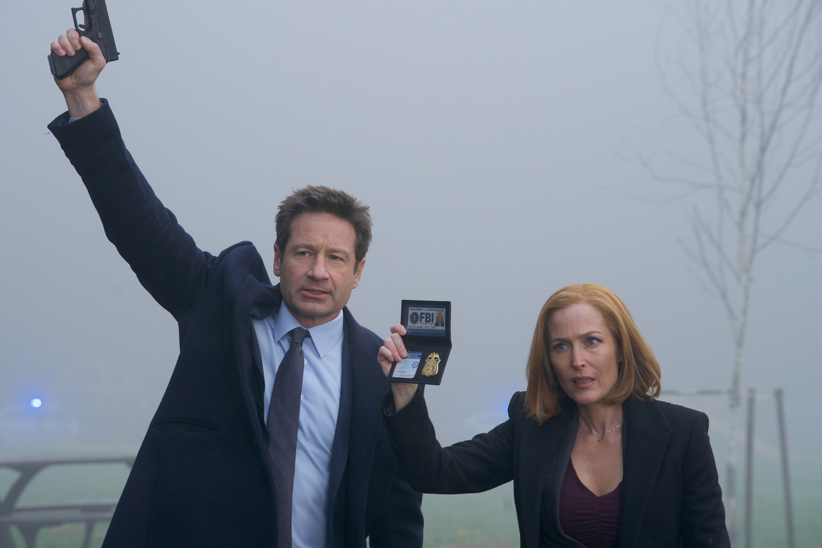 X-Files episode 1108 Familiar - Mulder and Scully show ID