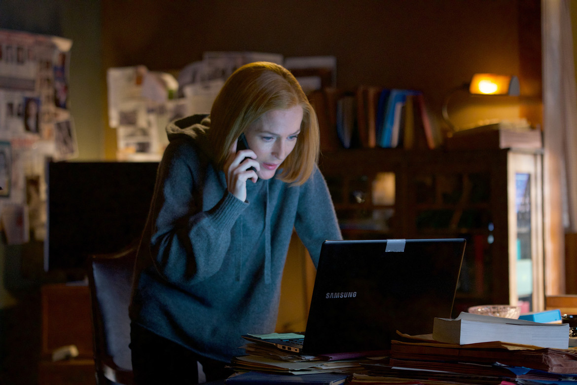 The X-Files episode 1110 - Scully on the computer