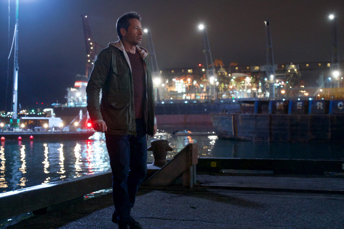 The X-Files episode 1110 - Mulder at the docks