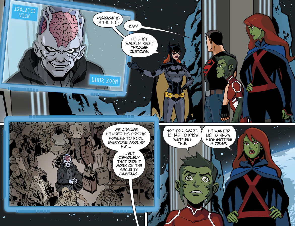 Young Justice: Outsiders comic page 1