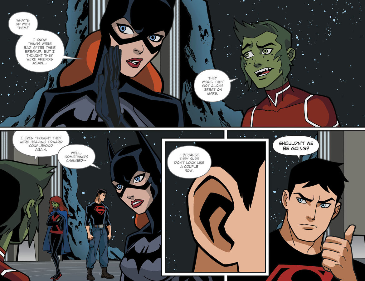 Young Justice: Outsiders comic page 3