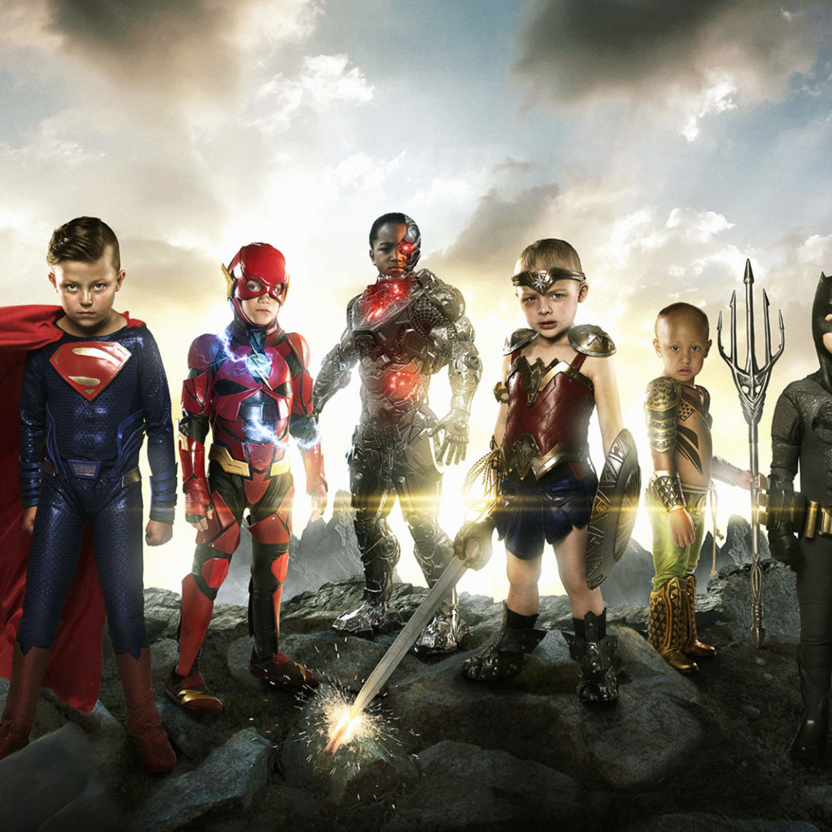 justice league, kids