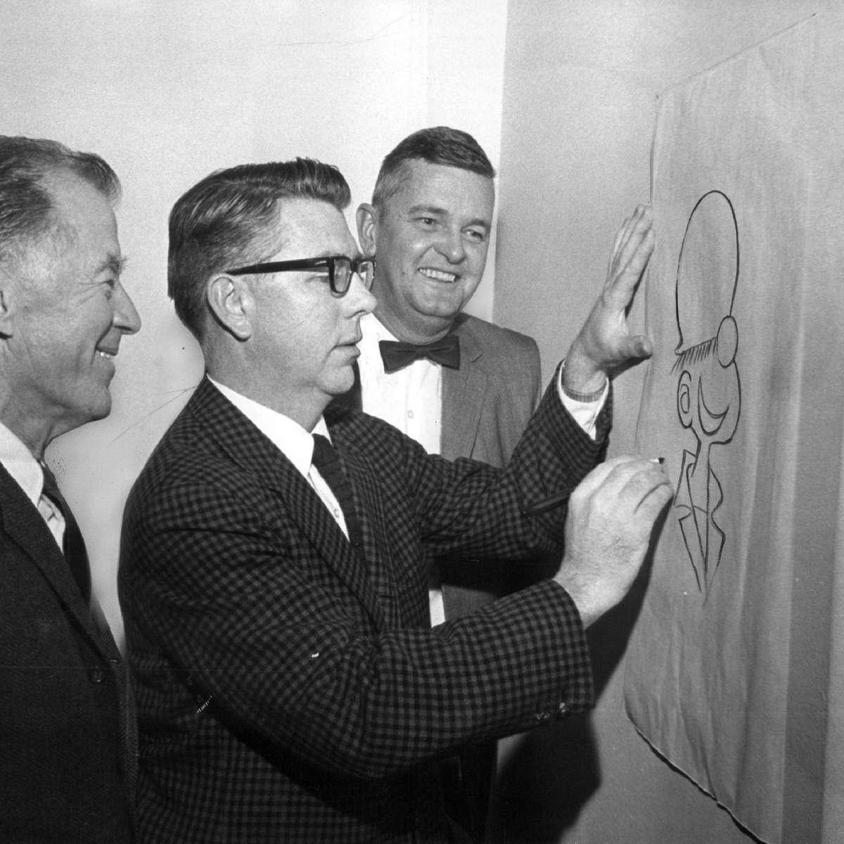 Cartoonist Mort Walker, creator of Beetle Bailey