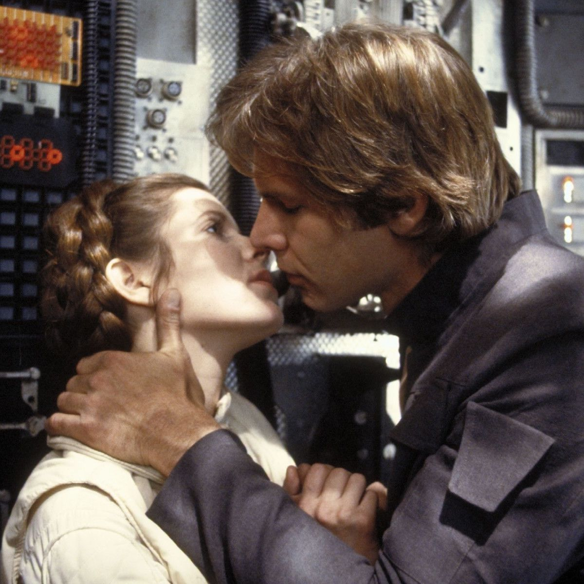 Han and Leia kiss, Star Wars