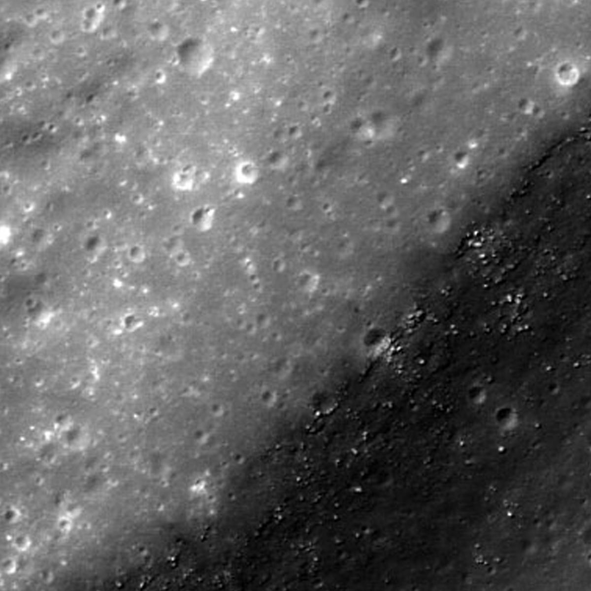 NASA image of the Kopff Crater in the moon's Orientale Basin