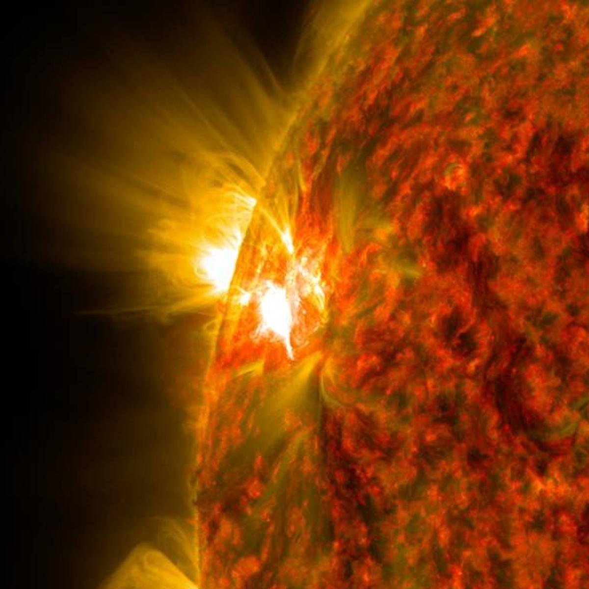 NASA image of a solar flare