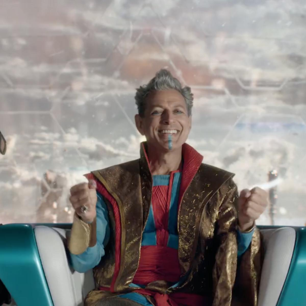 Jeff Goldblum as the Grandmaster in Thor: Ragnarok