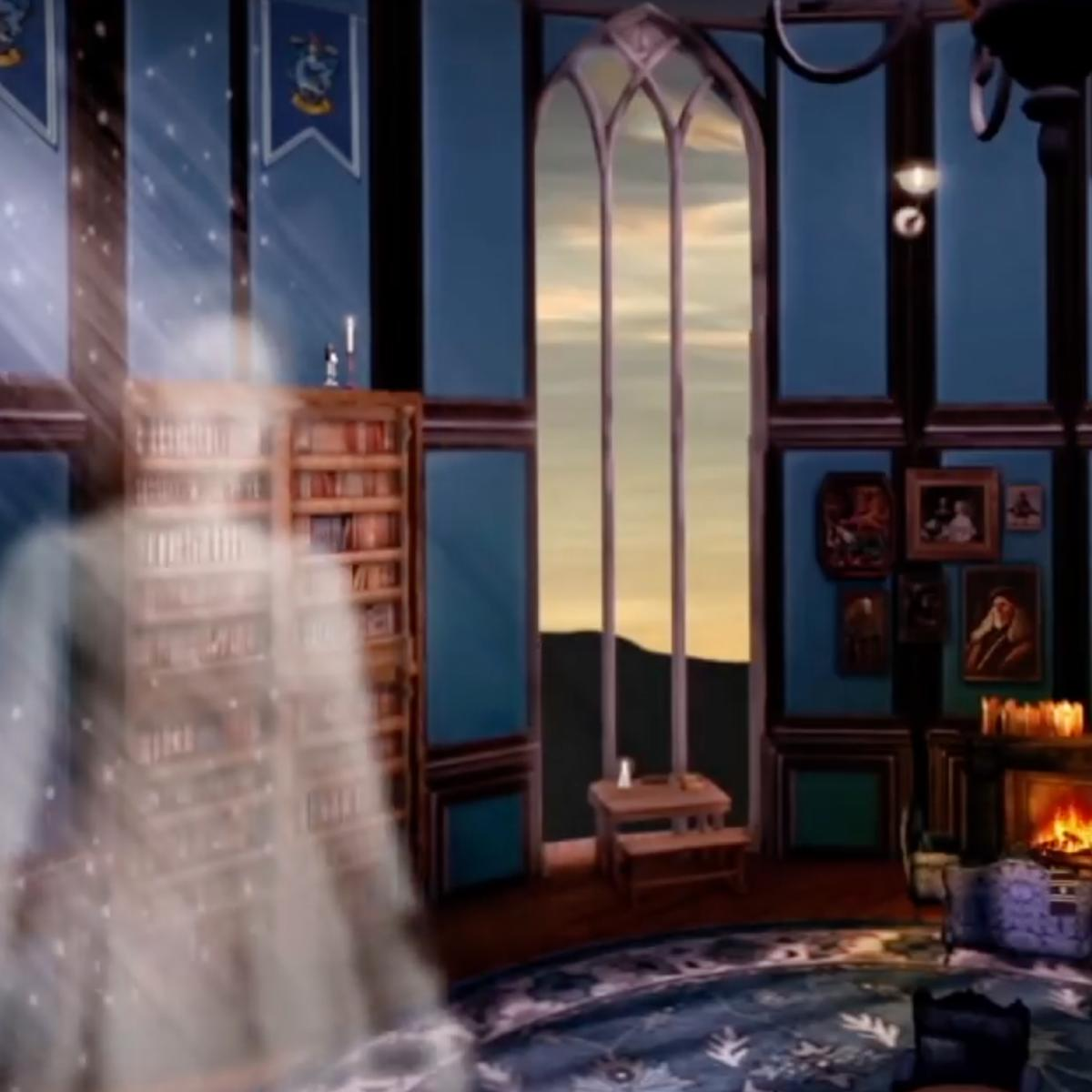 ASMR Rooms Ravenclaw common room from Harry Potter