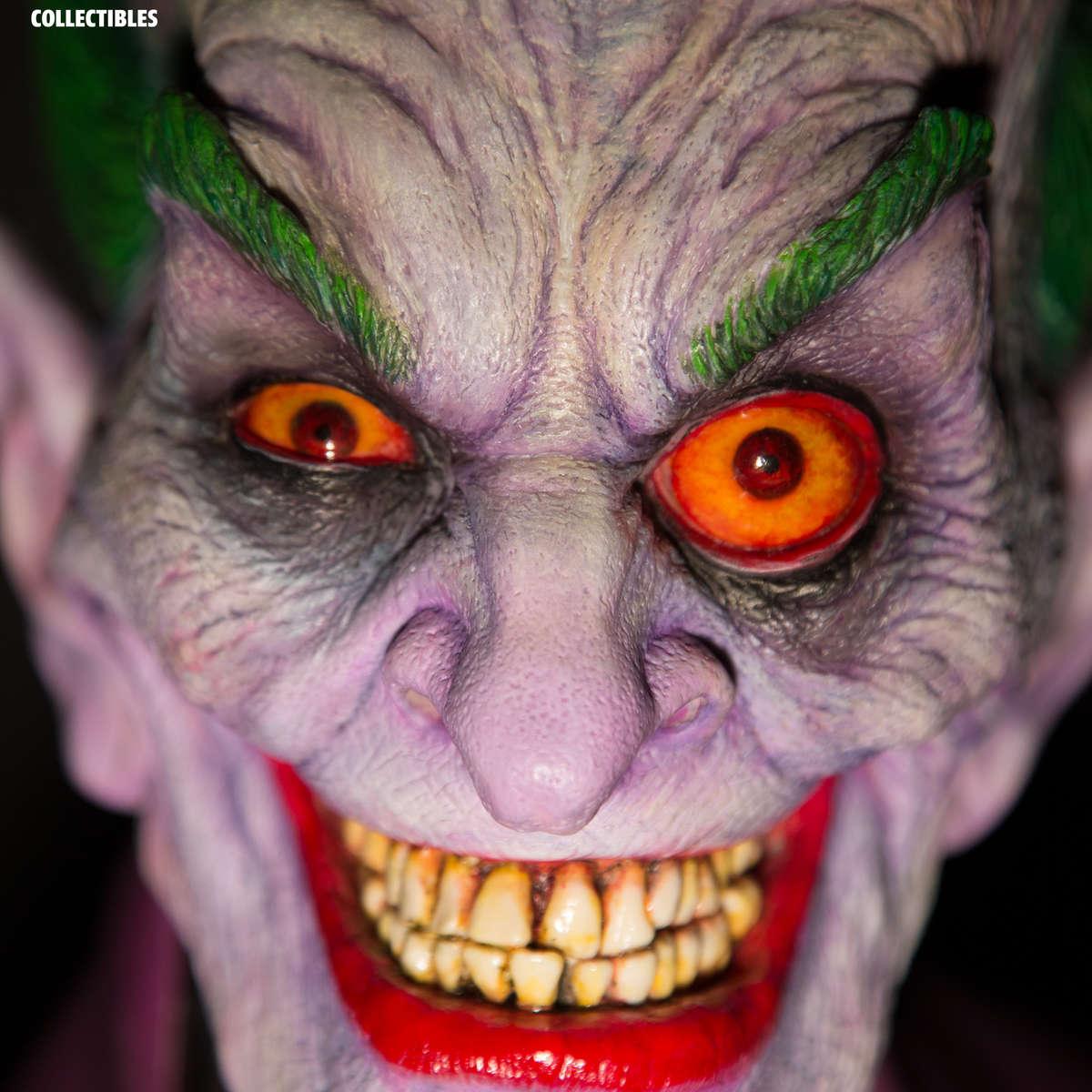 joker bust closeup