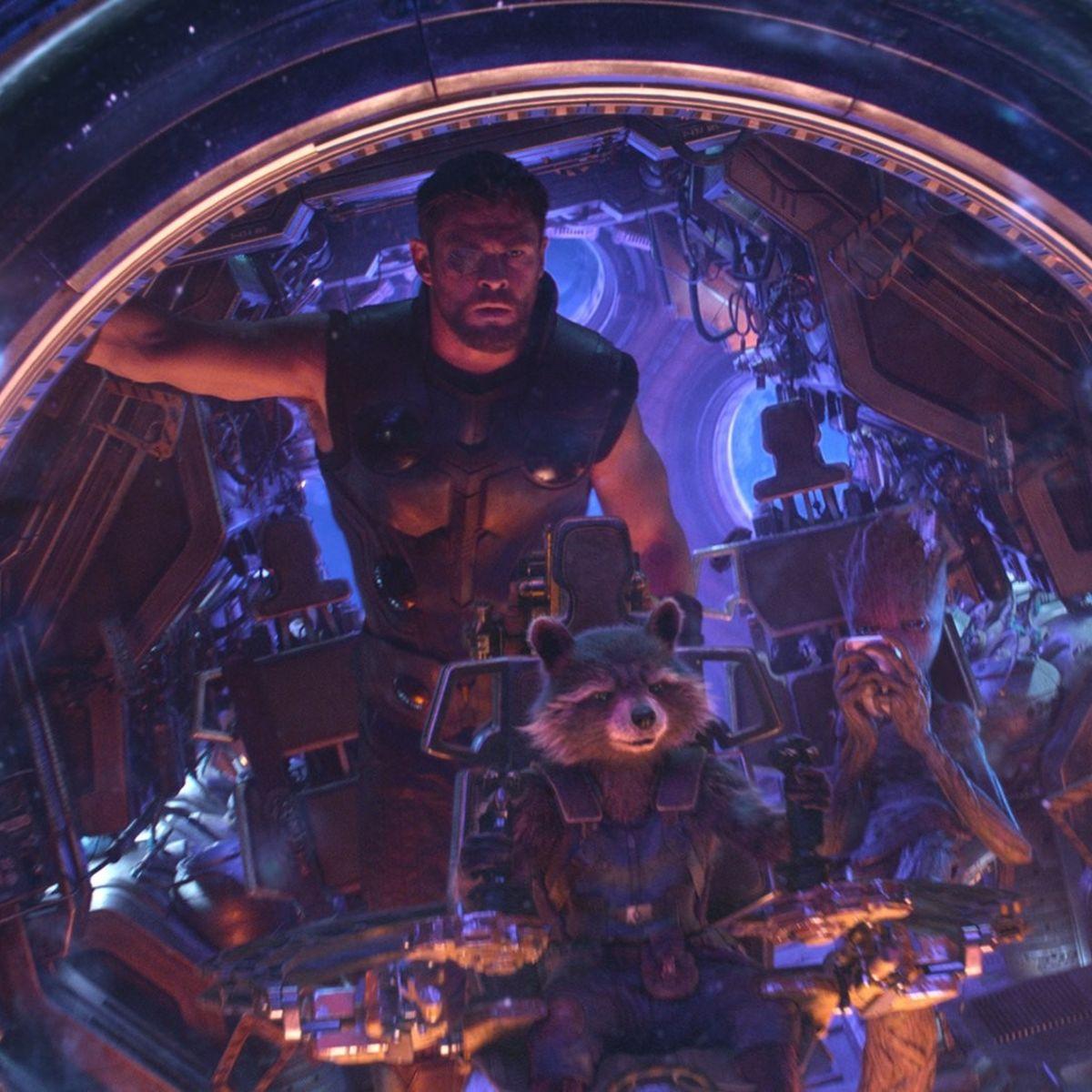 Thor, Rocket, Groot — Avengers: Infinity War