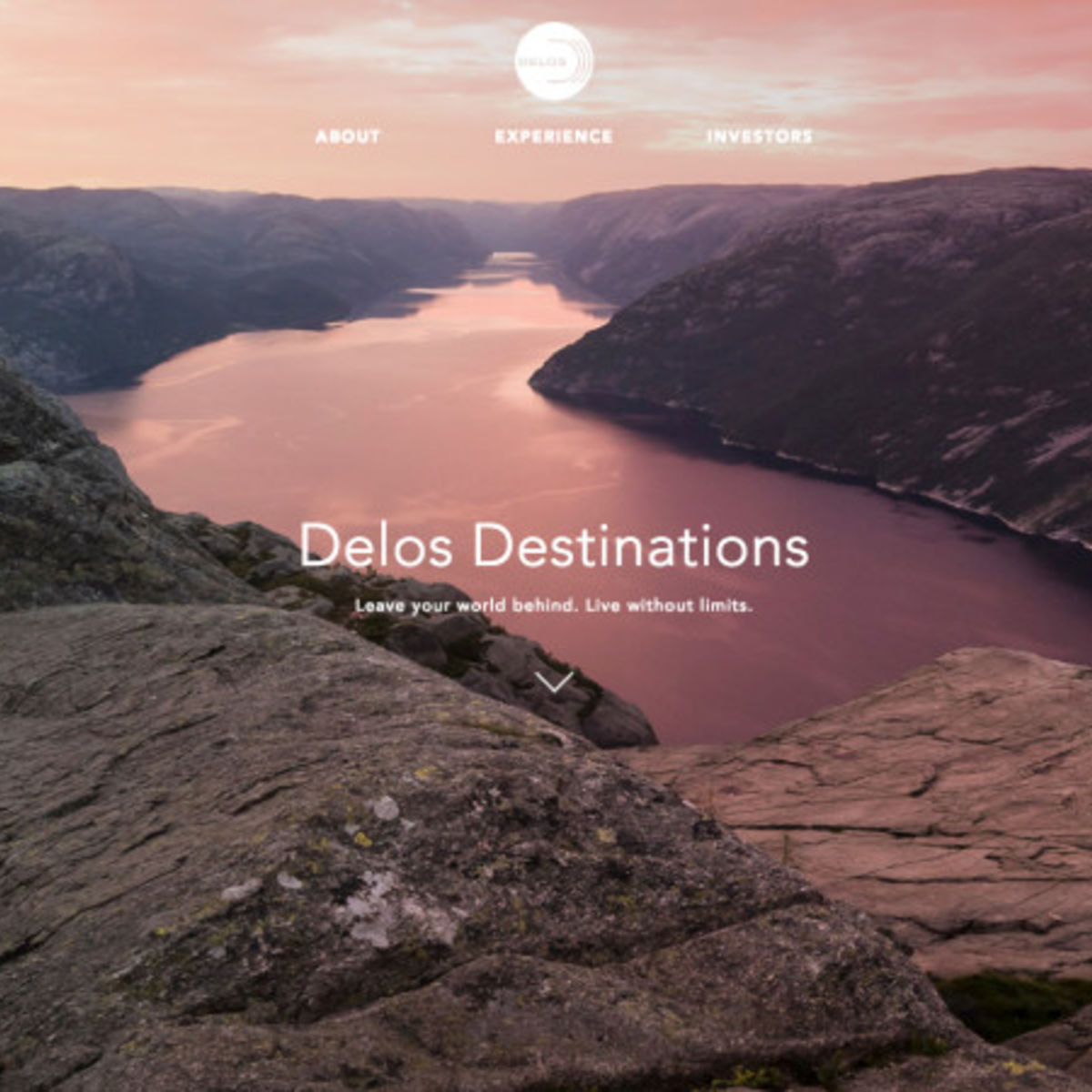 Westworld- Delos Destinations website