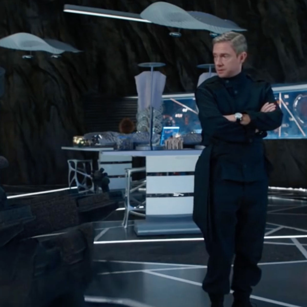 Black Panther- Everett Ross (Martin Freeman) in Shuri's lab