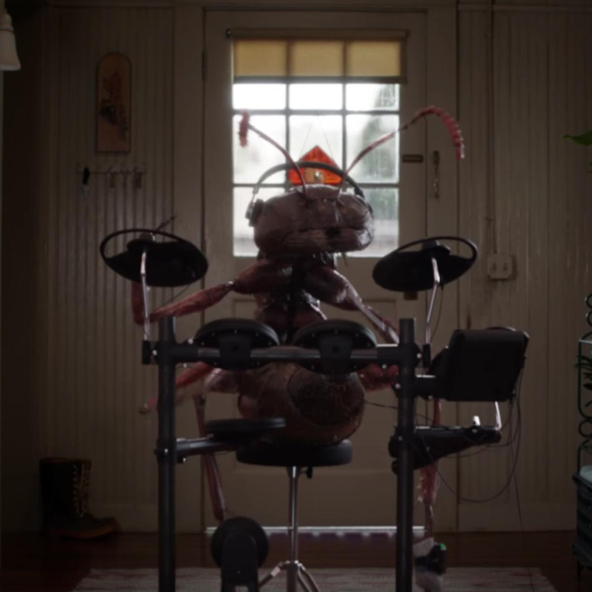 Ant-Man and the Wasp, giant ant playing drums