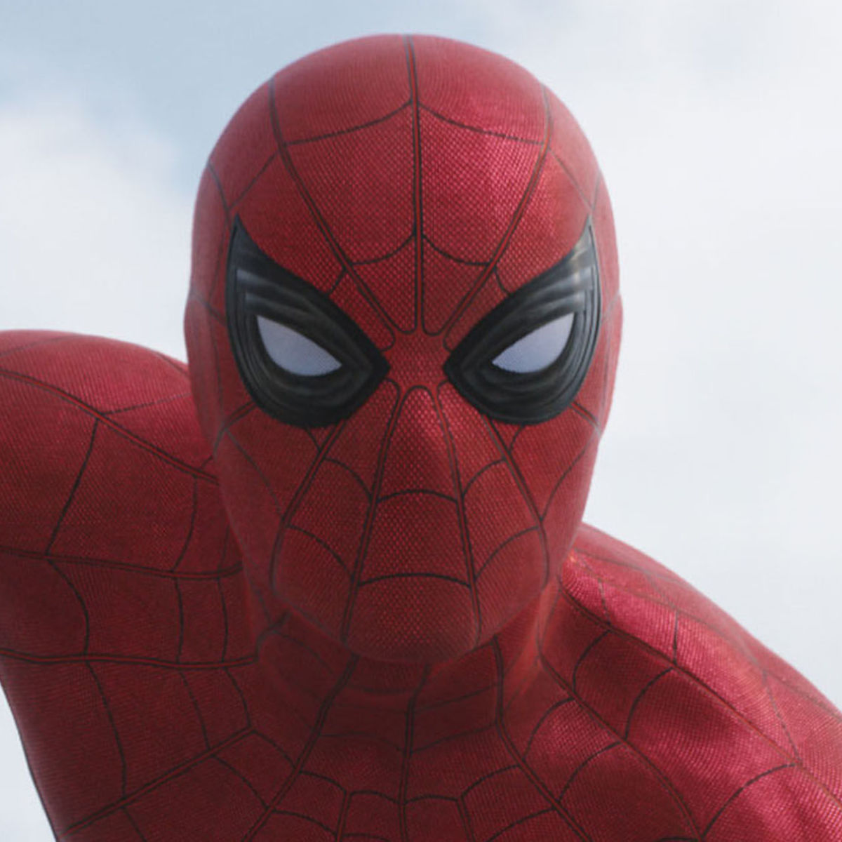 Spider-Man Civil War mask close up