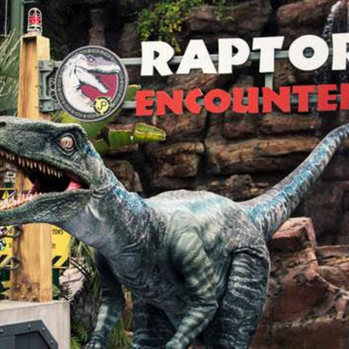 Blue from Jurassic World at Universal Studios' Raptor Encounter