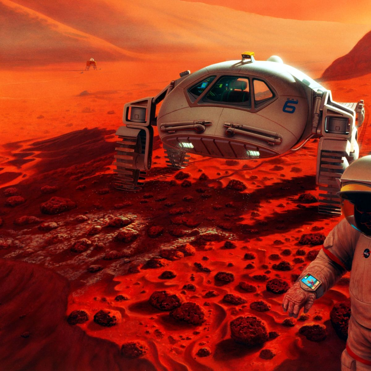 NASA image of humans on Mars