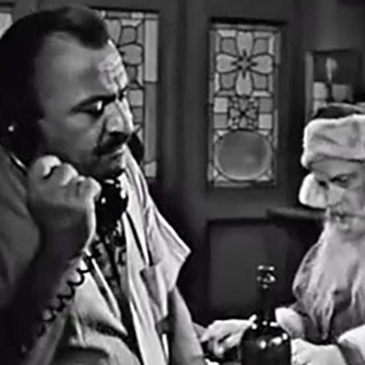 Twilight Zone Night of the Meek Val Avery on the phone