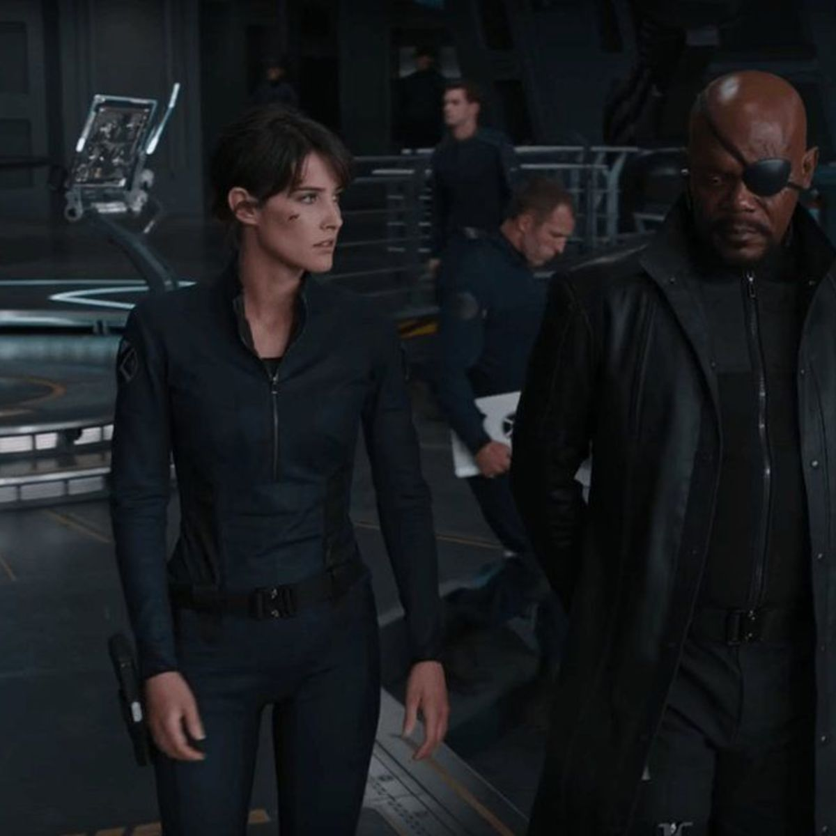 Nick Fury and Maria Hill
