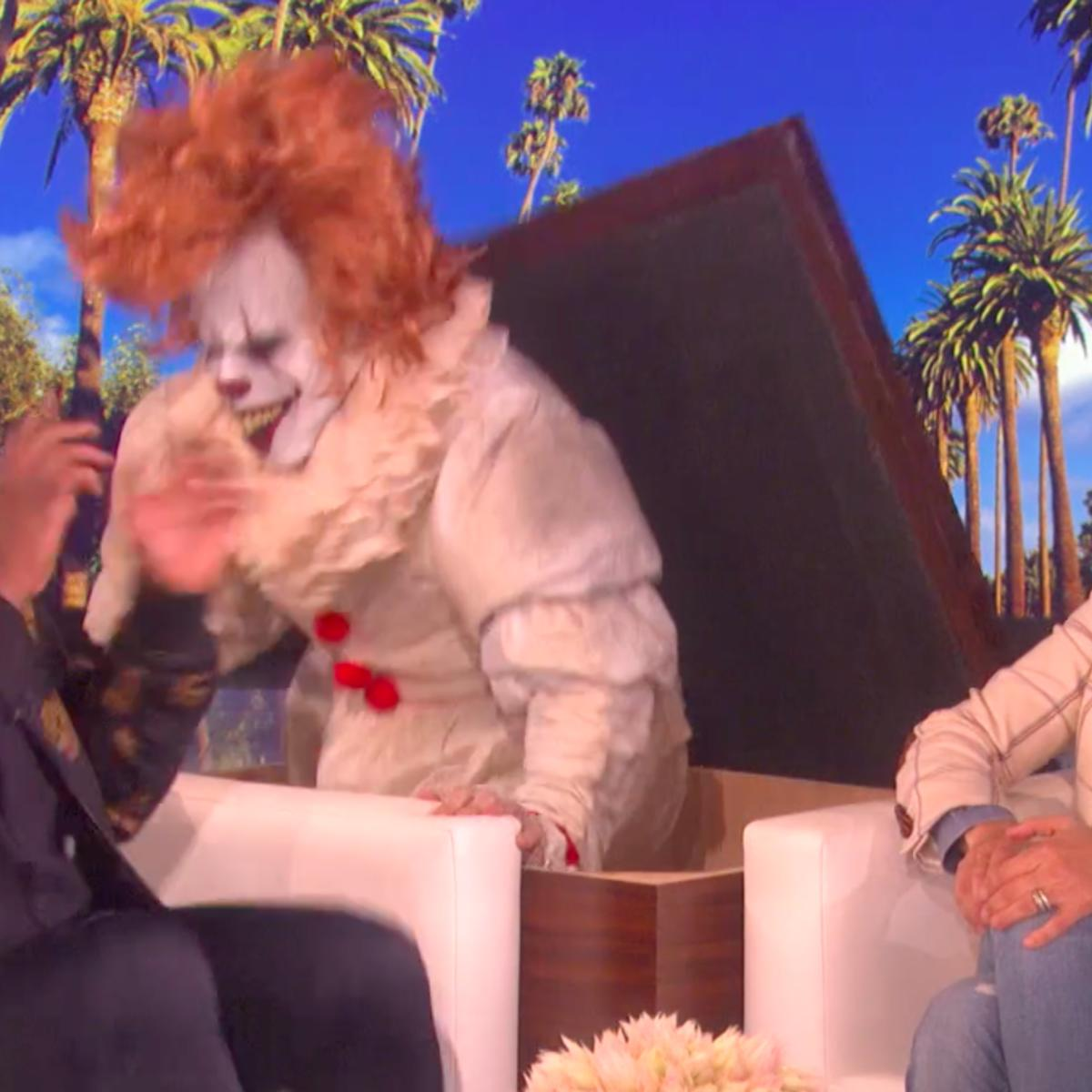 Watch Diddy face his fear of clowns on The Ellen DeGeneres Show