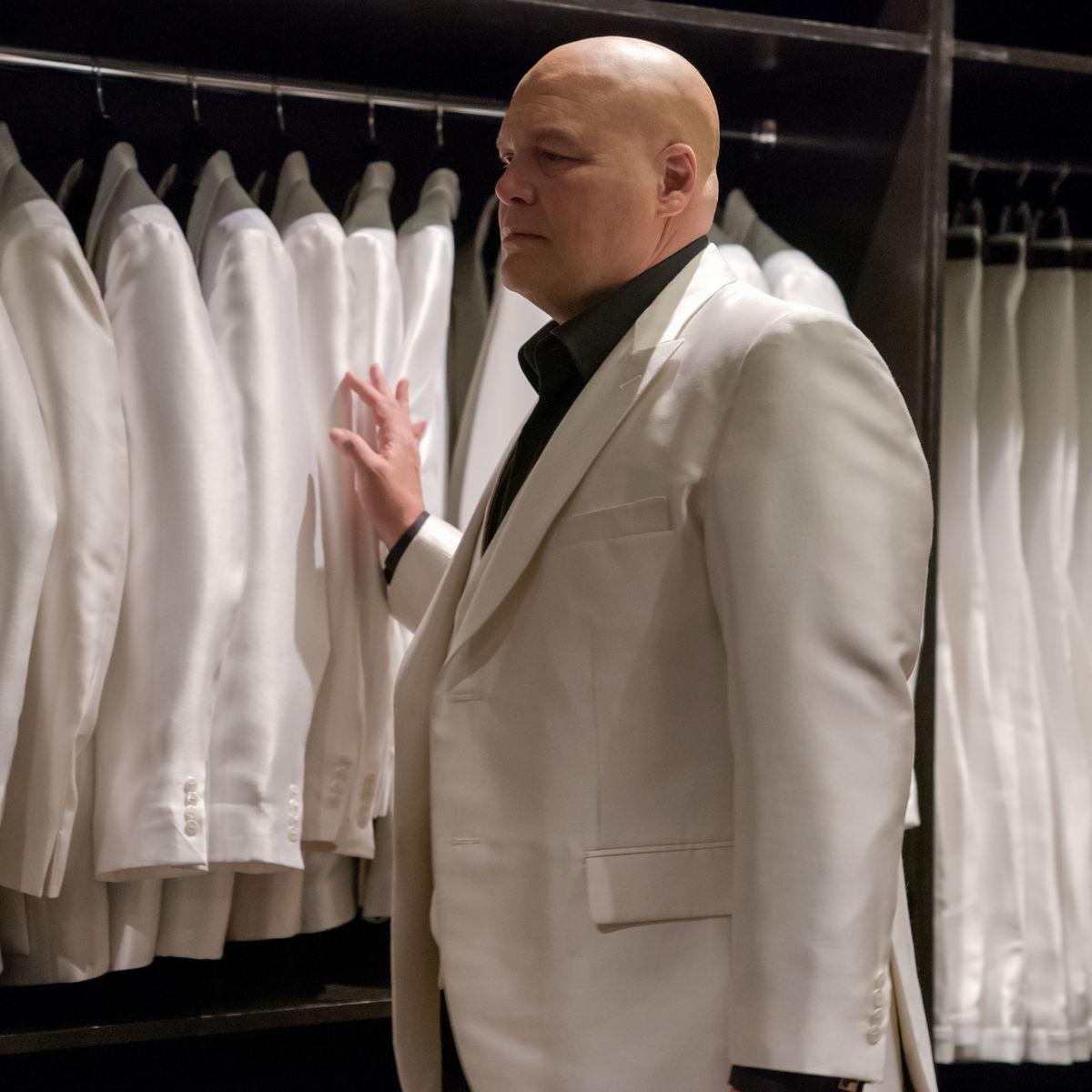 Wilson Fisk White Suit Daredevil Season 3 Netflix