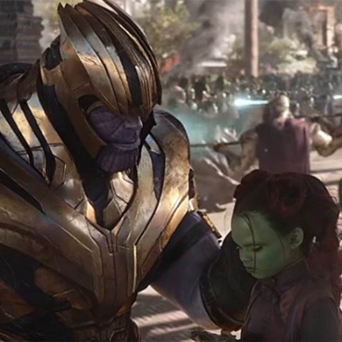 Avengers Infinity War Thanos and Gamora