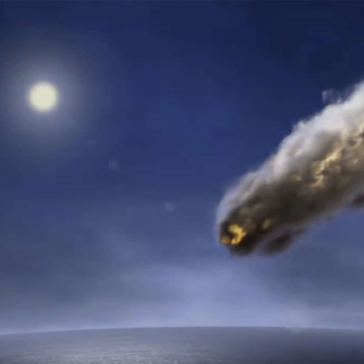 Artwork depicting the entry of asteroid 2014 AA into Earth's atmosphere. Credit: Dieter Spannknebe / Getty images / NASA