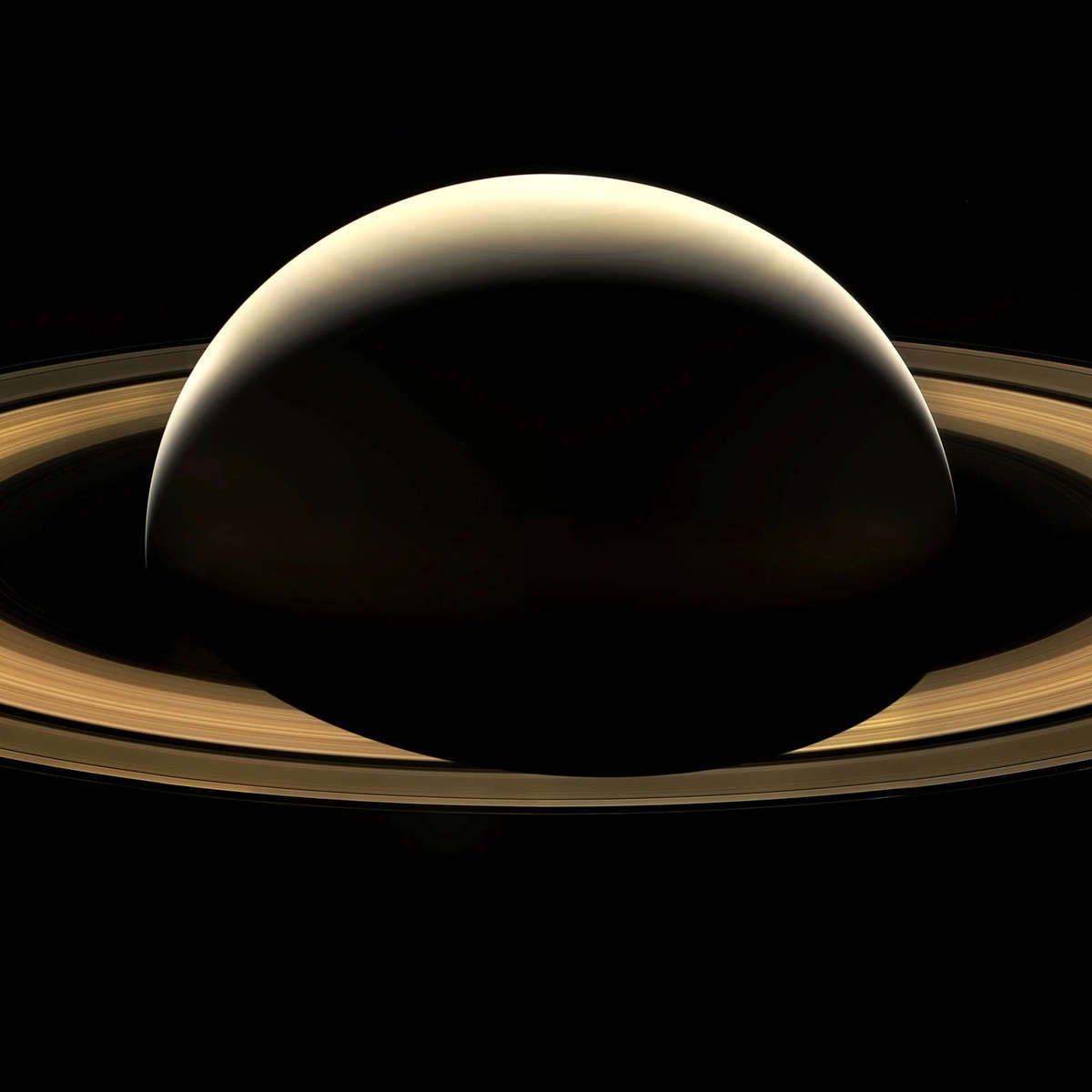 A mosaic from some of the last images Cassini ever took of Saturn. Credit: NASA/JPL-Caltech/Space Science Institute/Jason Major