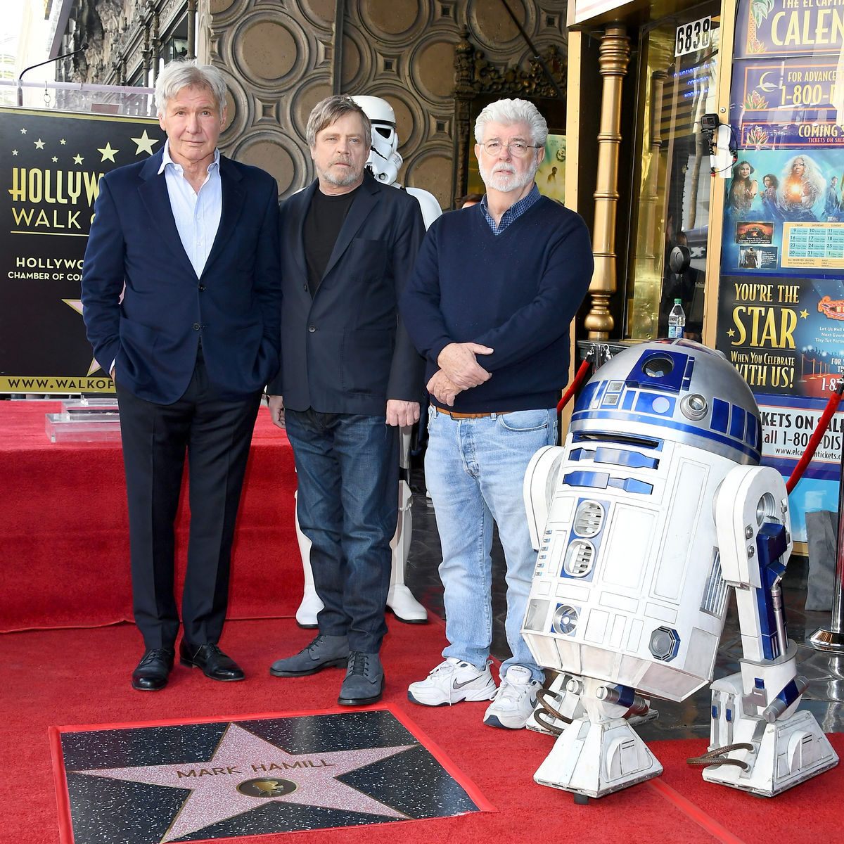 Mark Hamill Harrison Ford George Lucas Walk of Fame