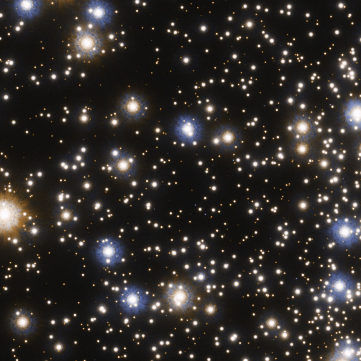 The center of the globular cluster NGC 6397 is a spectacular assortment of hundreds of thousands of stars. Credit: NASA, ESA, and T. Brown and S. Casertano (STScI)  Acknowledgement: NASA, ESA, and J. Anderson (STScI)