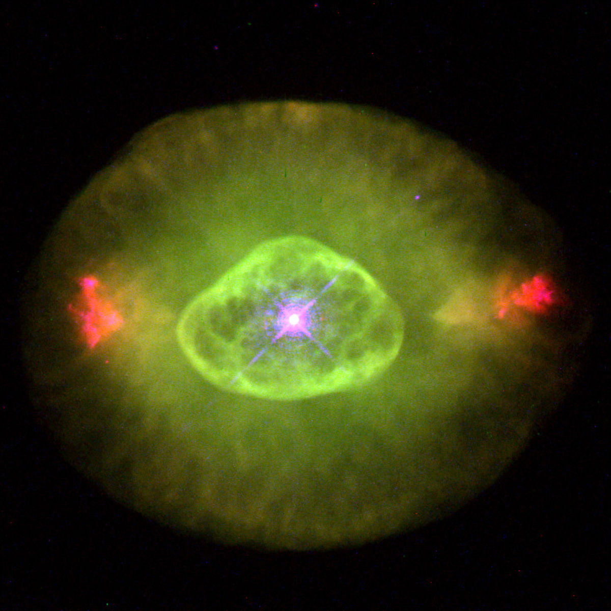 NGC 6826 is a planetary nebula, a dying star whose light is causing previously expelled gas around it to glow.