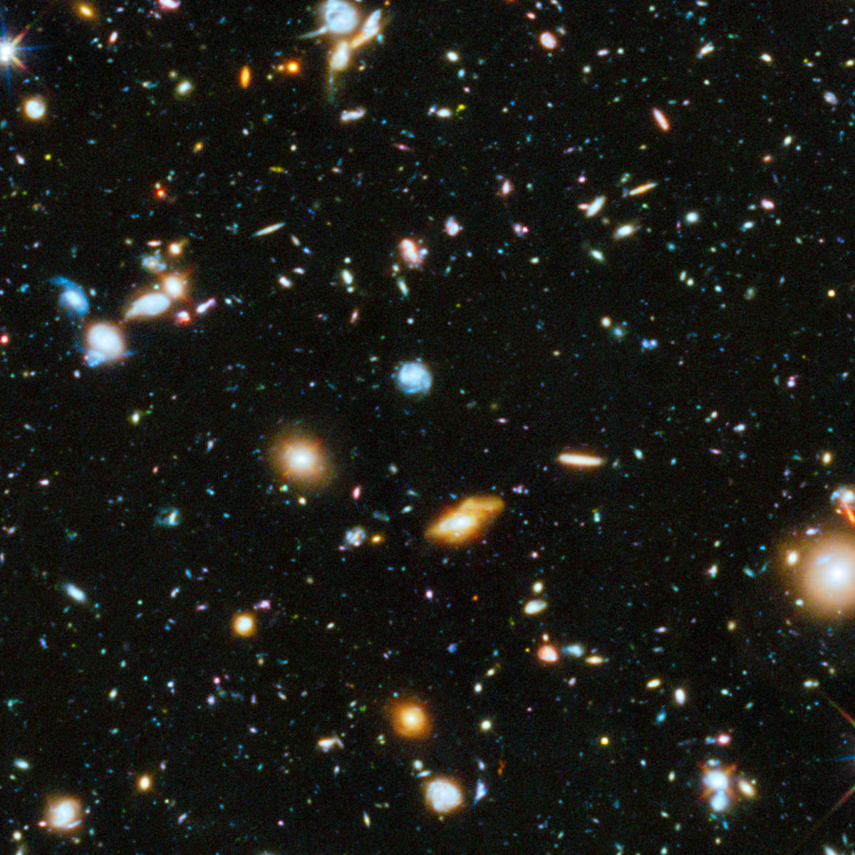 This is the Hubble Ultra Deep Field, and almost everything you see in it is a distant galaxy, billions of light years away. Credit: NASA, ESA, H. Teplitz and M. Rafelski (IPAC/Caltech), A. Koekemoer (STScI), R. Windhorst (Arizona State University), and Z.