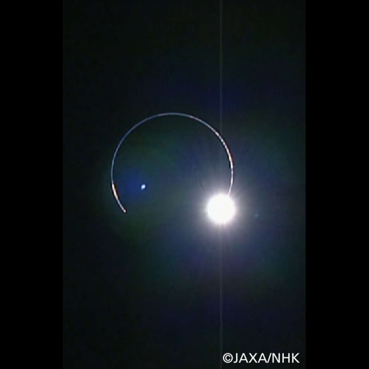 A lunar eclipse… seen from the Moon! The Japanese lunar satellite captured this breathtaking image of the Earth blocking the Sun, with our atmosphere lit up in a ring around it. Credit: JAXA/NHK