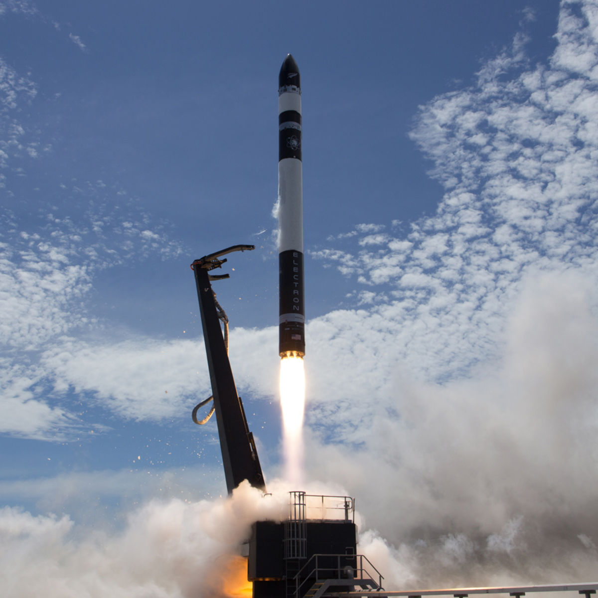 The first successful launch of the Rocket Lab Electron rocket on Jan 21, 2018. Credit: Rocket Lab