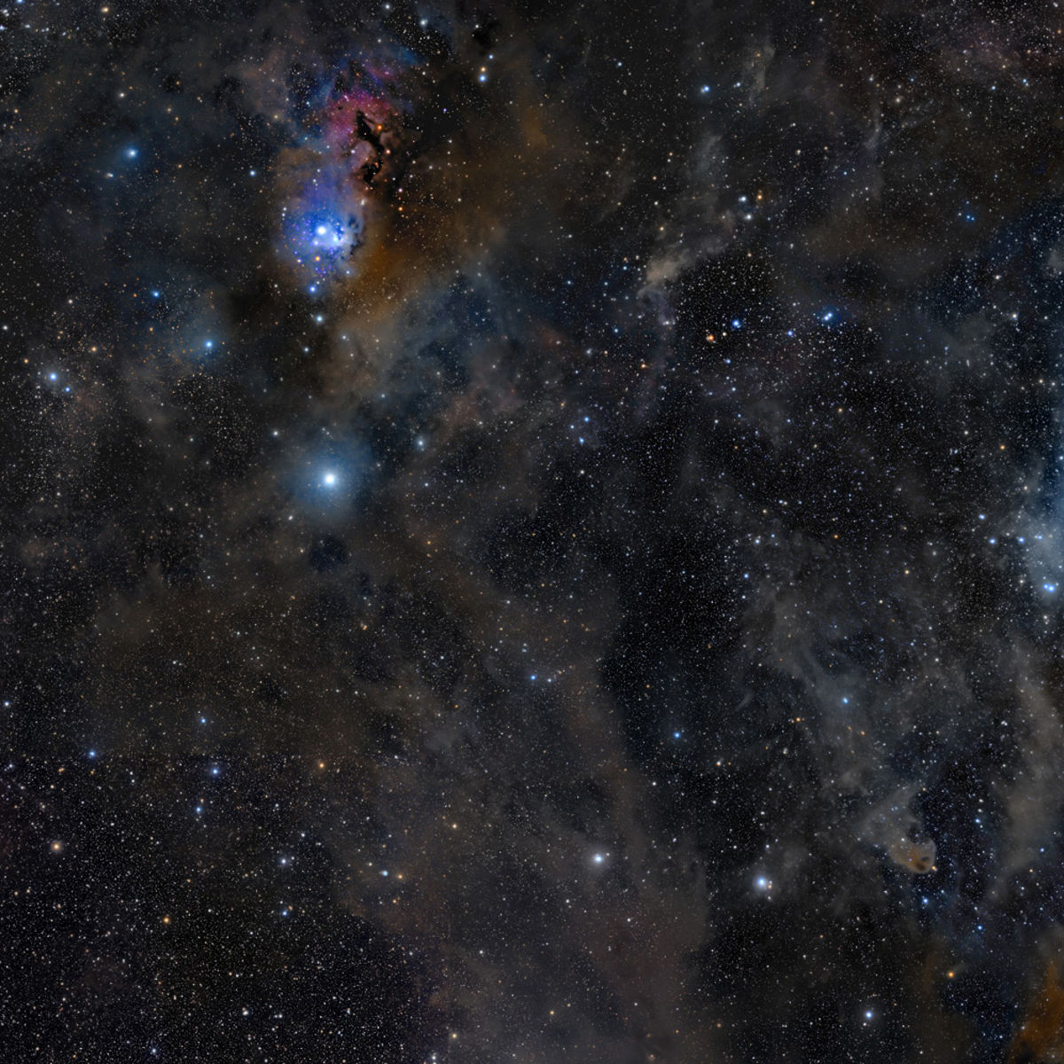 The California Nebula and Pleiades