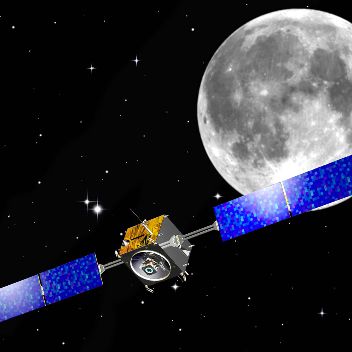 SMART-1 to the Moon! Artwork credit: ESA, CC BY-SA 3.0 IGO