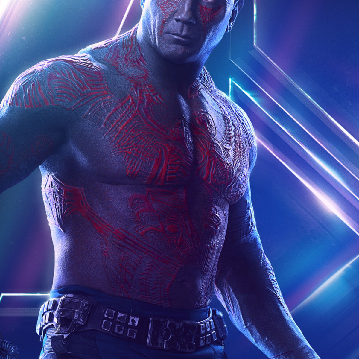 Avengers: Infinity Wars character poster - Dave Bautista as Drax