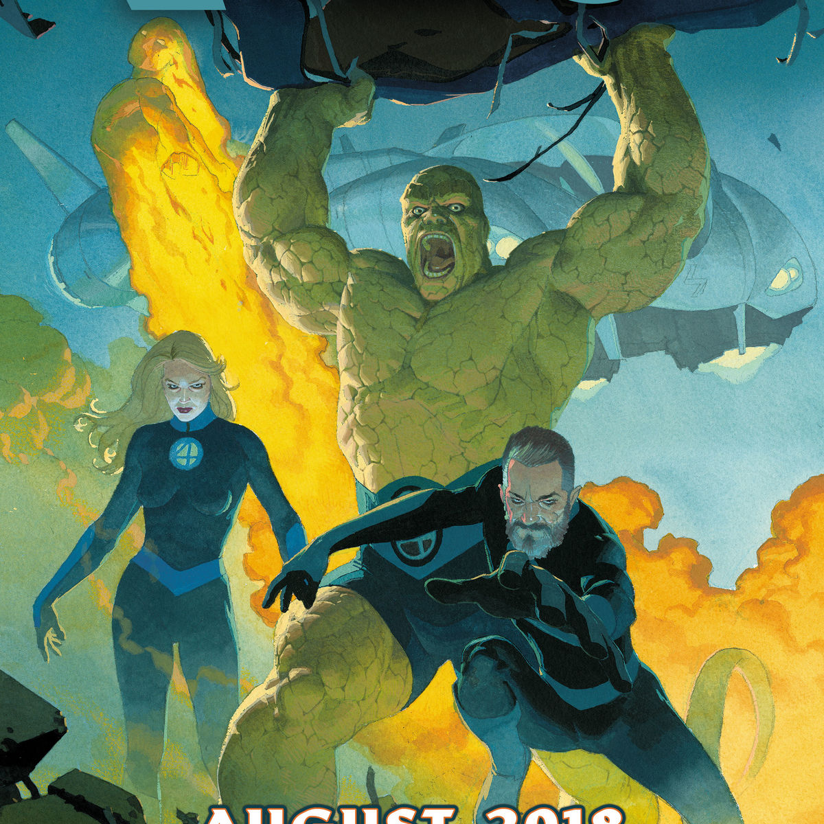 Fantastic Four #1 Comic cover (Ribic)