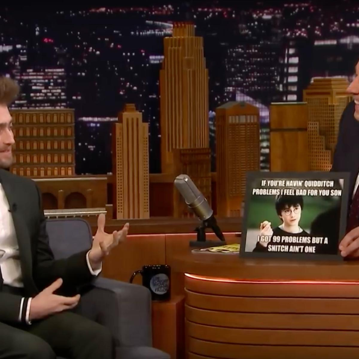 Daniel Radcliffe Reacts to Harry Potter Memes With Jimmy Fallon