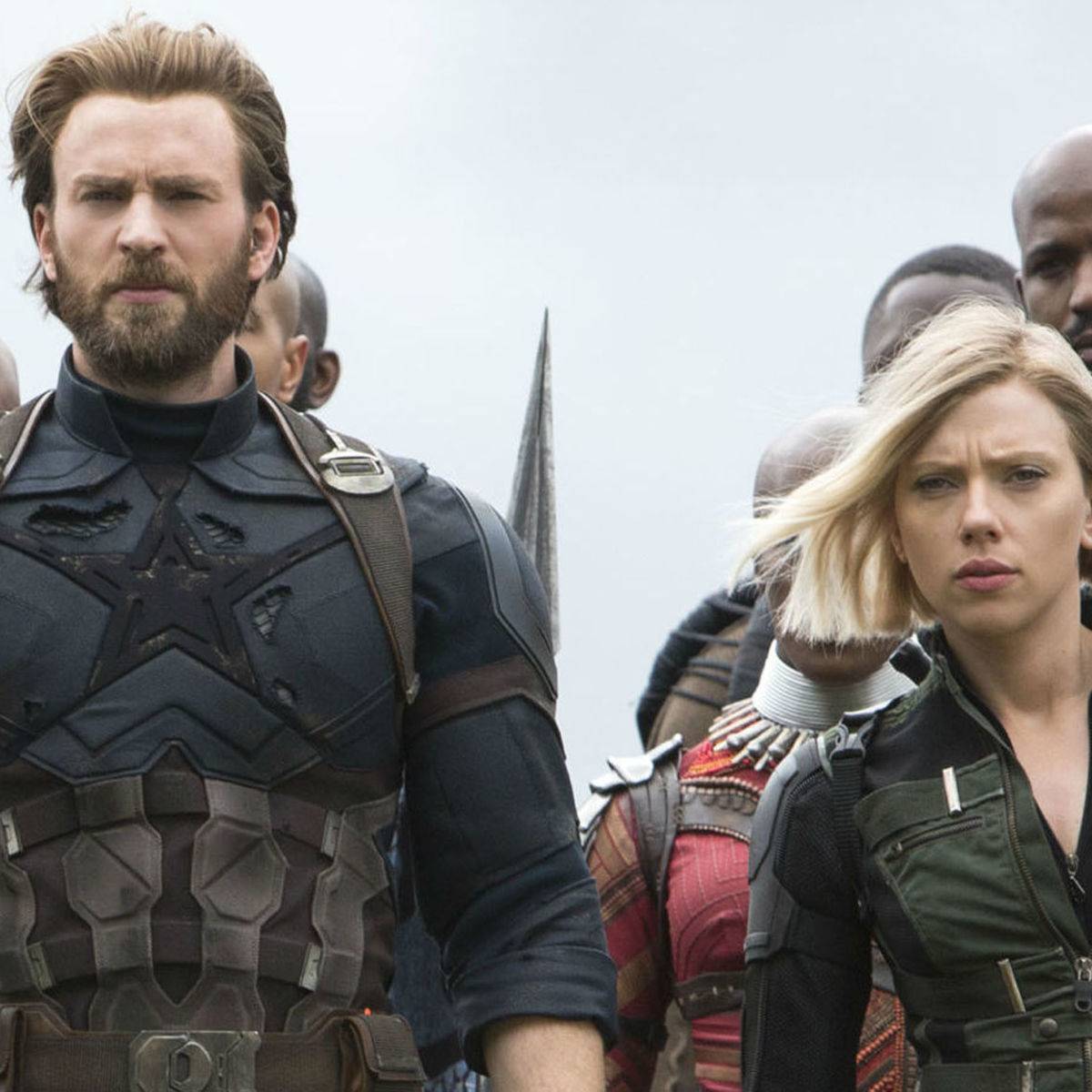 Captain America and Black Widow in Avengers: Infinity War