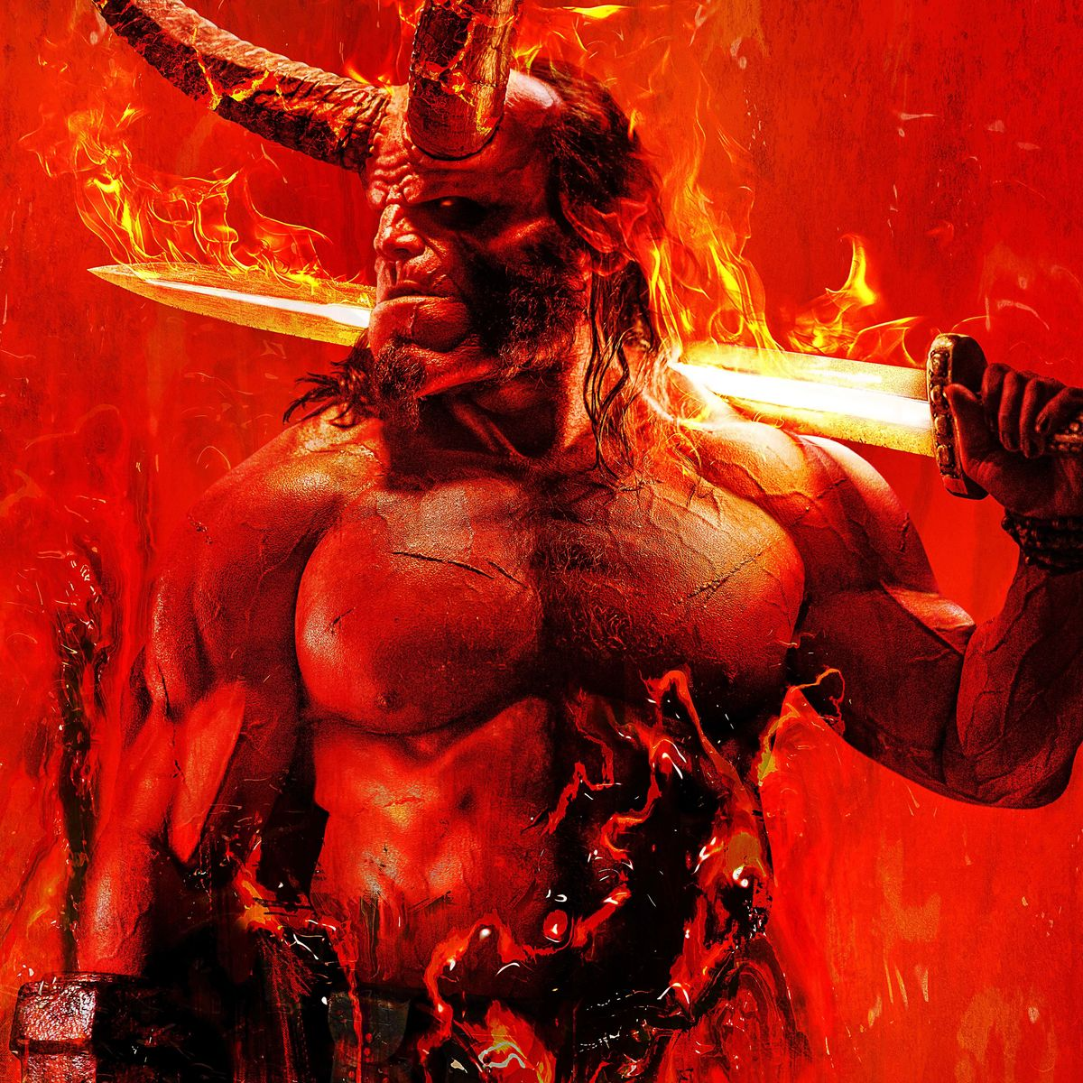 Image result for hellboy david harbour poster